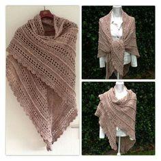Op verzoek gemaakt Het patroon is de Deichspielerei (staat bij de bestandenop de fb pagina southbay shawl ) en is gehaakt met de zalmkleurige tweed op naald 8.