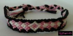 Freundschaftsband geknüpft, Armband aus Stickgarn von charmed3p auf DaWanda.com