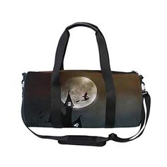 MUOOUM Witchs House Halloween Sports Gym Bag Travel Duffel Bag for Women and Men Luggage Handbag * Read more reviews of the product by visiting the link on the image. (This is an affiliate link) #yogastrap Yoga Strap, Types Of Yoga, Duffel Bag, Travel Bags, Gym Bag, Halloween, Link, Sports, House