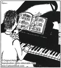 A pianist uses a frog as a page turner. by Fishman, Loren