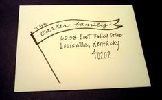 Hand Addressed Envelope Calligraphy  PENNANT by PenmanshipByPJ, $1.50