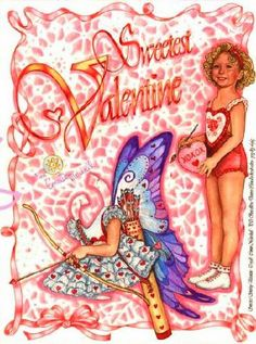 Artist signed Shirley Temple Valentine Paper Doll.This From Connie Marshall - MaryAnn - Picasa Web Albums