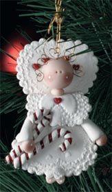 Clay Angel Ornament....