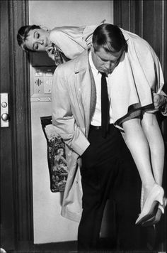 Audrey Hepburn & George Peppard in Breakfast at Tiffany's