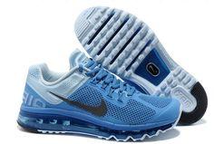 new style c31d7 67fd6 Distance Blue Dark Grey Blue Nike Air Max 2013 Men s Running Shoes Nike  Running Shoes Women