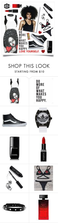 """""""City girl"""" by beanpod ❤ liked on Polyvore featuring Native State, Vans, adidas, Chanel, Smashbox, Bobbi Brown Cosmetics and Elizabeth Arden"""