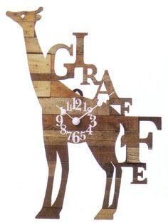 INTERFORM GIRAFFE WALL CLOCK