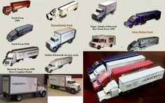 Lots of Simple Truck Paper Models Free Templates Download - http://www.papercraftsquare.com/lots-of-simple-truck-paper-models-free-templates-download.html#Truck, #VehiclePaperModel