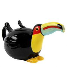 Tiki Lounge toucan ceramic teapot