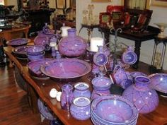 From his studio near Geelong, Paul produces a range of fine stoneware tableware. Paul's specialty is a purple reduction glaze with wax resist decoration. All of Paul's work is fully functional and may be used in ovens, microwaves and dishwashers.