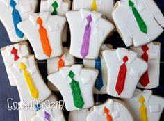 Shirt & Tie Decorated Cookie (Tutorial) — CookieCrazie