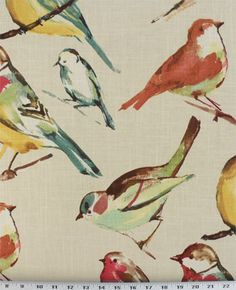 Birdwatcher Meadow | $17.98 / Online Discount Drapery Fabrics and Upholstery Fabric Superstore!