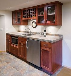 Kitchen Ideas For Basement Mother In Law Suite With Kitchenette ... Wet Bar Basement, Basement Ideas, Industrial Basement Bar, Finished Basement Bars, Small Basement Kitchen, Basement Designs, Bar Kitchen, Small Basement Bars, Basement Bar Plans