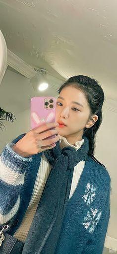 Blue Cardigan, Blackpink Jisoo, Taehyung, Turtle, Rabbit, Angel, Wallpapers, Fashion, Korean