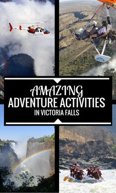 Want to know about the Top Adventure Activities in Victoria Falls? Bungee Jumping, Whitewater Rafting, Sunset Cruise & more- there's something for everyone! ************************************************************************** Zimbabwe Adventure Activities   Africa Adventure Activities   Zambia Adventure Activities   Top Africa Adventure Activities   Africa Zipline   Africa Canyon Swing   Africa White Water Rafting   Zambezi Sunset Cruise