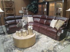Hooker Furniture Living Room Carlisle 4 PC Power Sectional Features Developed by one of America's premier manufacturers to offer quality furniture at affordable prices. Each piece is meticulously hand-crafted using the most exquisite leathers in the world.