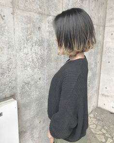 35 Short Ombre Hair Color Ideas for Brunettes That Are Trending for 2019 - Latest Hair Colors Medium Short Hair, Medium Hair Styles, Curly Hair Styles, Dip Dye Hair, Dyed Hair, Short Hair Tomboy, Lavender Hair Colors, Korean Short Hair, Design Textile