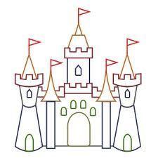 Simple Castle Outline <b>castles</b> on pinterest  <b>castle</b> drawing, clip art and retro vintage