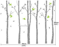 Birch tree wall decal baby boy girl birthday di NatureStyle