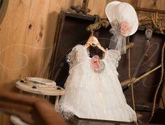 Βαπτιστικά ρούχα, φόρεμα Vinte li με δαντέλα 2406*