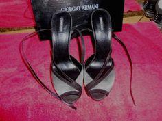 Giorgio Armani Stiletto Open Toe  womans size 10 original price $700.00 #GiorgioArmani #OpenToeStrapyStiletto