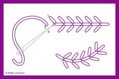 How to Work Fern Stitch