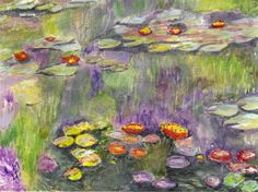Inspired by Monet Claude Monet, Renoir, Picasso, Van Gogh, Art Academy, Artist Gallery, Water Lilies, Painting Techniques, Painting & Drawing