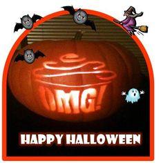 Happy Halloween from the Omg! Goblins!  Visit Omg! Cupcakes at www.facebook.com/OmgCupcakesGP Goblin, Pumpkin Carving, Happy Halloween, Cupcakes, Facebook, Art, Art Background, Cupcake Cakes, Kunst