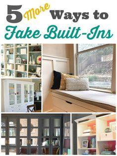 DIY Home Decor | 5 (More) Ways to Fake Built-ins