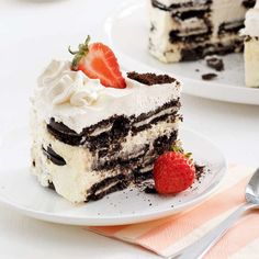 No-Bake Oreo Cheesecake - 5 ingredients 15 minutes Gateau Aux Oreos, Oreo 5, Biscuits Graham, No Bake Oreo Cheesecake, Great Recipes, Favorite Recipes, Instant Pudding Mix, Vanilla Pudding Mix, Cream Cheese Filling