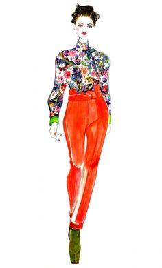 illustrations by sunny gu | Patricia Van der Vliet for Preen Fall 2012 RTW