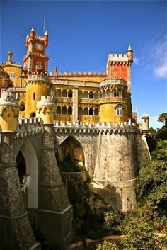Palácio da Pena, Sintra, Portugal - never did get to Sintra on any of my trips to Portugal.  Must her around to it!