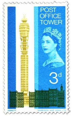 Stamps of Great Britain: Opening of Post Office Tower Issue (1965)