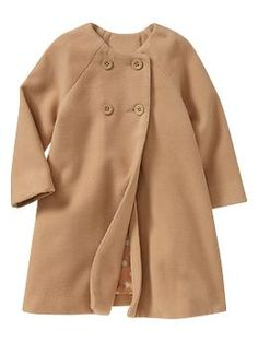 dying over this jacket, with a big bow and inverted box pleat on the back!! via baby gap
