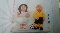 Footballer and ballet cake