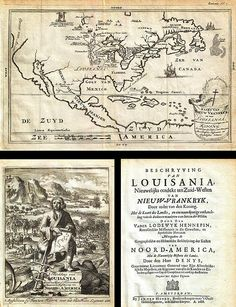 1688 Hennepin First Book and Map of North America first printed map to name Louisiana Geographicus