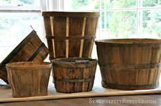 Serendipity Refined: How To Make New Bushel Baskets Look Old