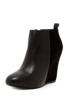 La Victoire Gianni Leather Wedge Ankle Boot on HauteLook