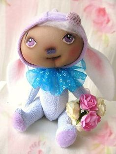 "Nostalgie Fantasy Teddy Hase "" Sweet little Baby´s "" Landhaus/ Shabby-Art, Ooak Felt Bunny"