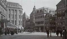 1915 Dagelijkse Groenmarkt, gezien naar de Gravenstraat en Venestraat