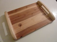 Wooden serving platter. Serving tray with by Melcreationsbois, €55.00