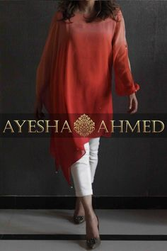 Ayesha Ahmed Studio Salwar Designs, Kurta Designs Women, Kurti Designs Party Wear, Blouse Designs, Short Kurti Designs, Pakistani Dress Design, Pakistani Dresses, Western Outfits, Indian Outfits