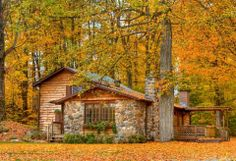 Beautiful log cabin!