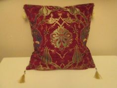 ottoman embroidery | Turkish Cushion Cover Ottoman Embroidery Tulip Style pillow cover $31 ...