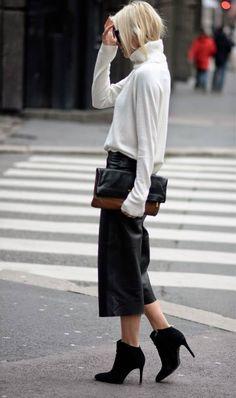 Black Street Chic Culottes