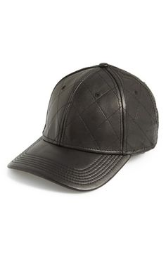 Gents Quilted Leather Baseball Cap  8a8b3c420ef3