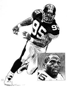 Pittsburgh Steelers Greg Lloyd NFL Football Player Poster