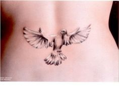 I love how detailed this dove tattoo is - it's absolutely beautiful!