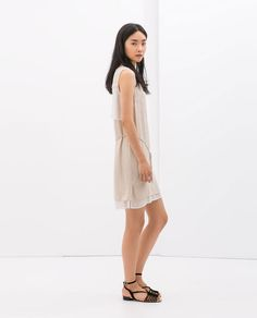 GoiNg to check this dress out ZARA - WOMAN - COMBINED LAYERED DRESS