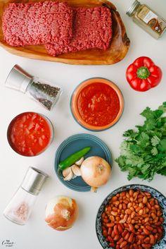 Ingredientes pra você fazer um delicioso CHILI http://www.vaicomeroque.com.br/chili/